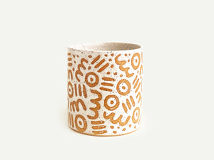 "Pre-Order: ""Doodle"" Cup / Tumbler - Small Pattern - White"