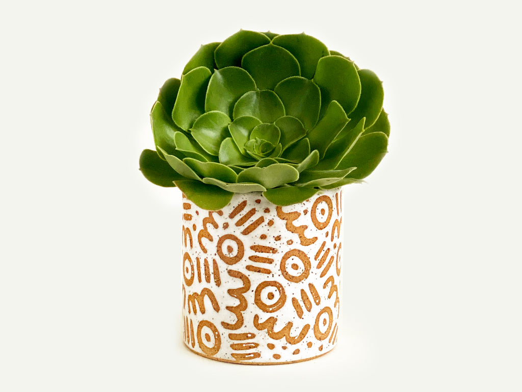 "Pre-Order: ""Doodle"" Planter / Pot - Small Pattern"
