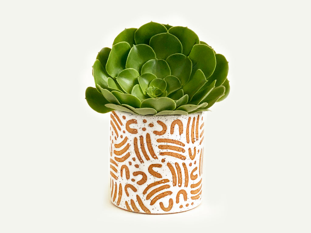 "Pre-Order: ""Jot"" Planter / Pot - Small Pattern"