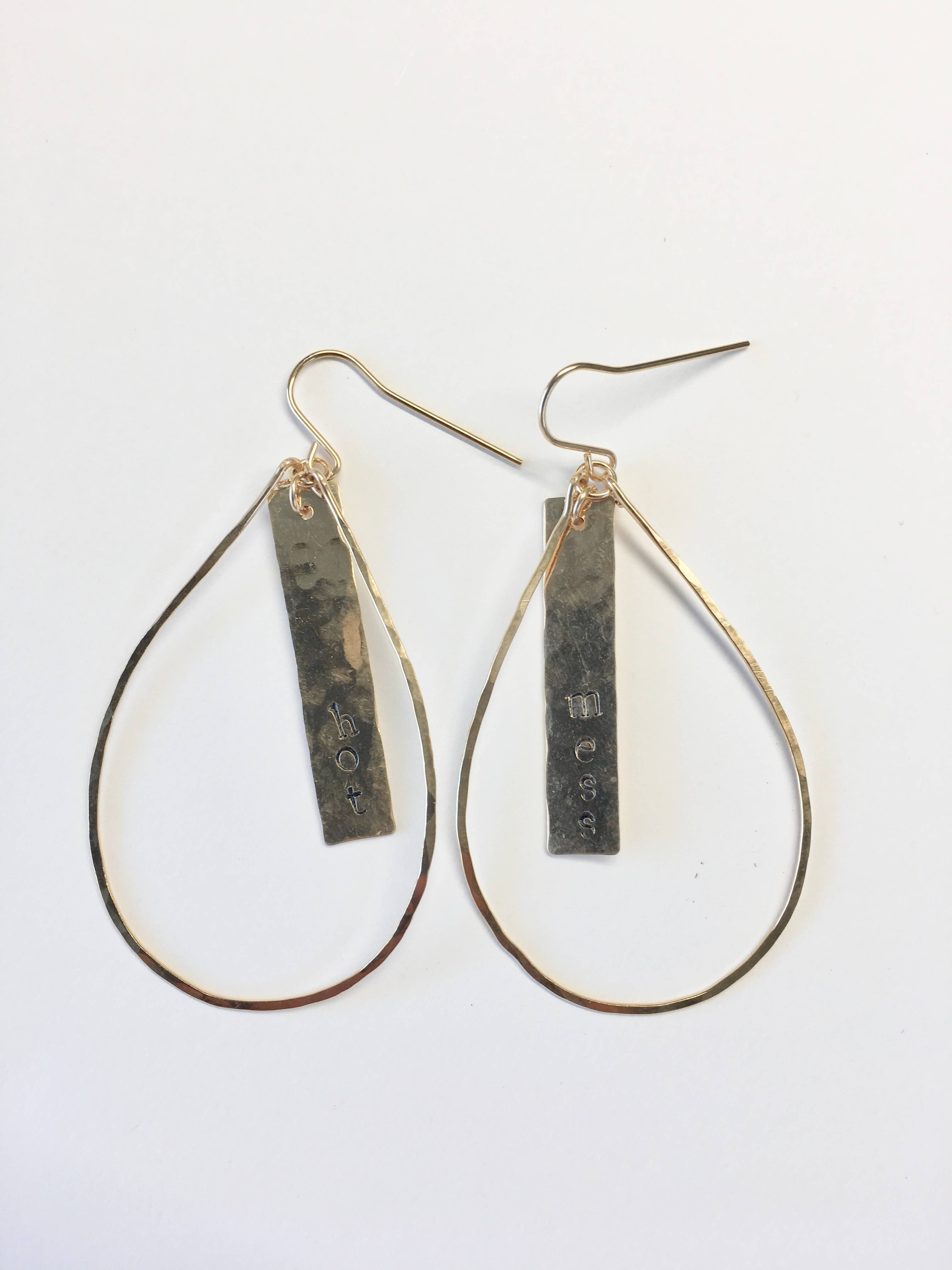 Teardrop Hot Mess Drop Earrings