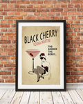 Black Cherry Original Pin-Up Girl Print Design (matted and framed) 5x7