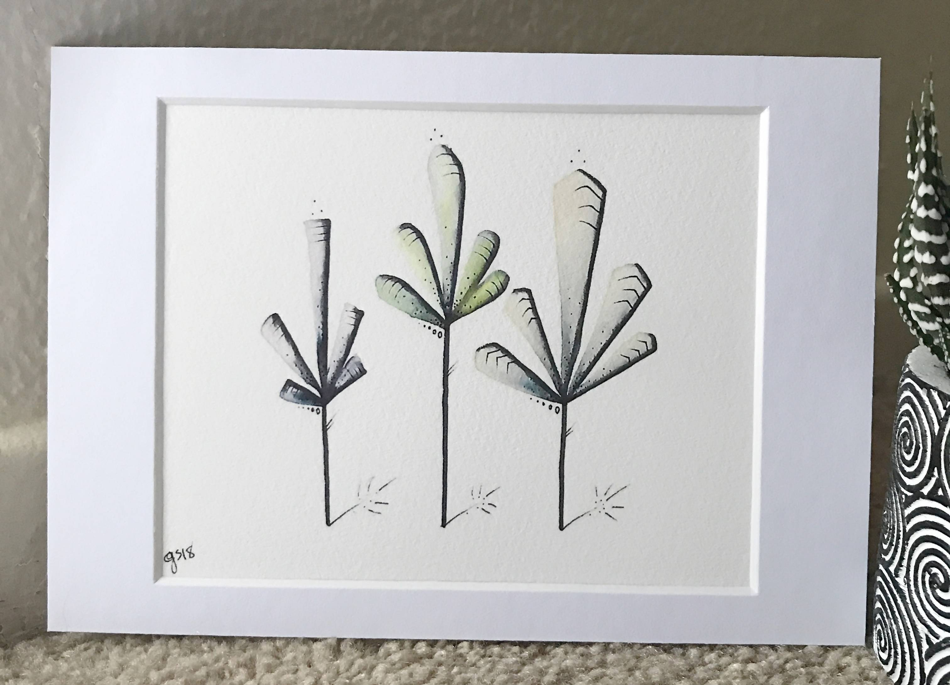 Gretshwoo Limited Edition 5x7 Art Print Plant 11
