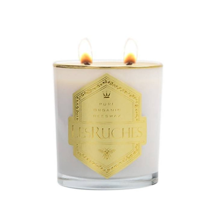 8 oz. Chevrefuille Santal (Honeysuckle Santal) LesRuches Organic Beeswax Luxury Candle