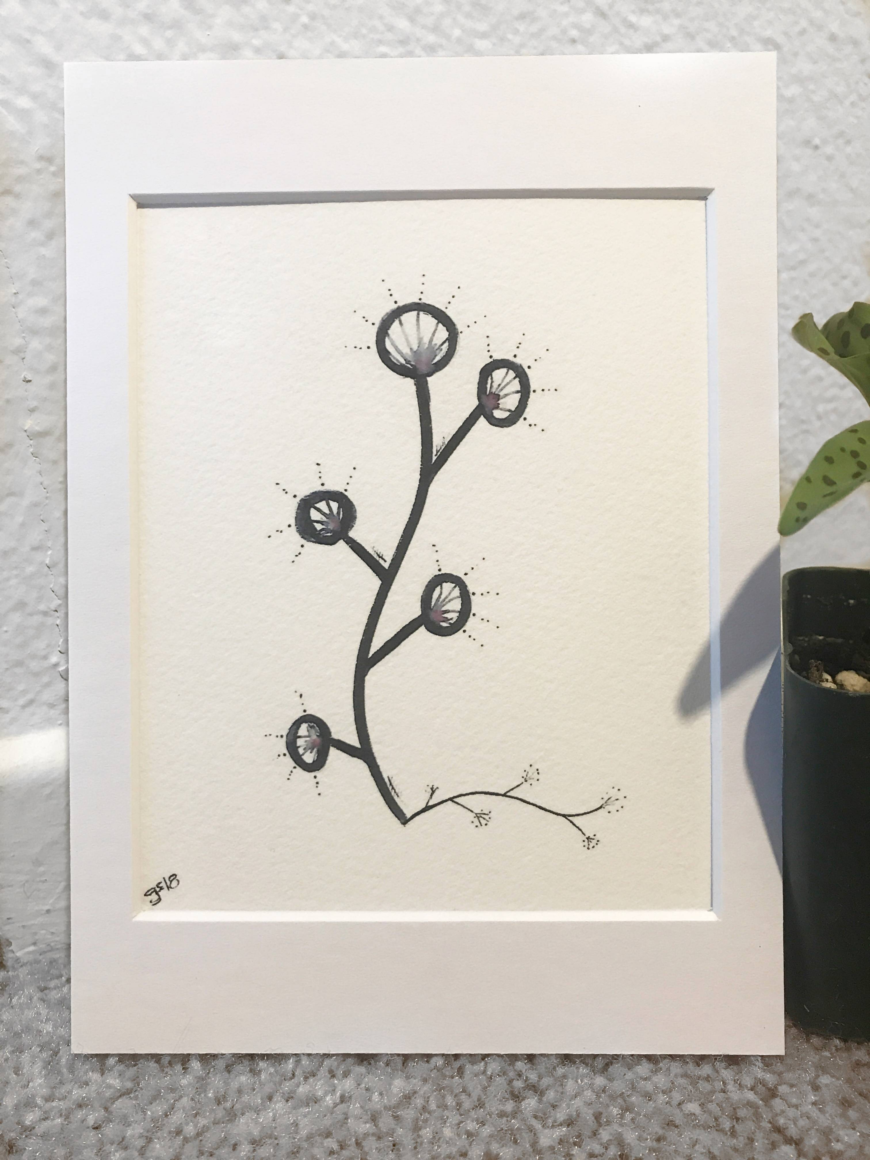 Gretshwoo Limited Edition 5x7 Art Print Plant 4