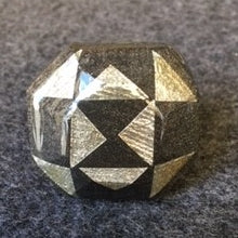 metalic black and silver 8 sided