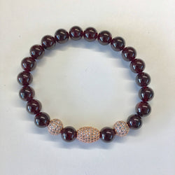 Gemstone Bracelet with Micro Pave Accent Beads