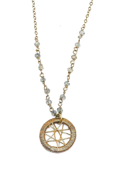 Dream Catcher Star Gem Necklace