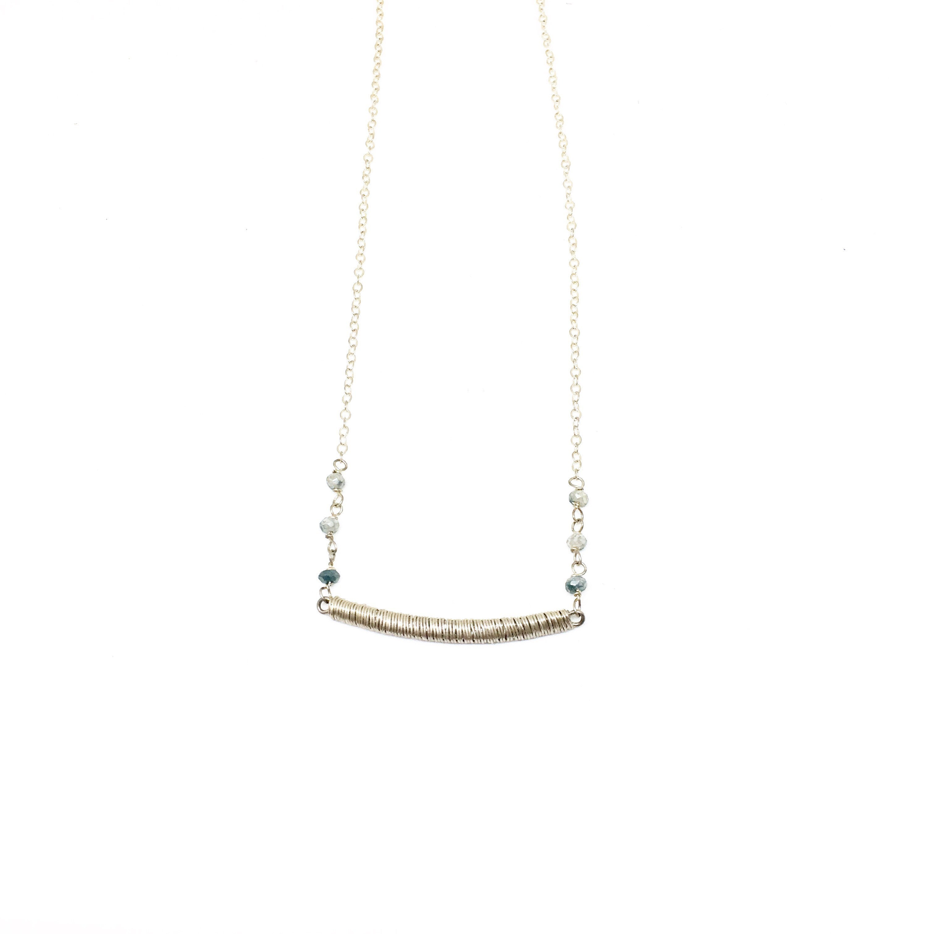 Simply Perfect Bar with Gems Necklace