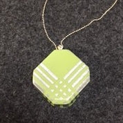 light green with silver stripes crossing