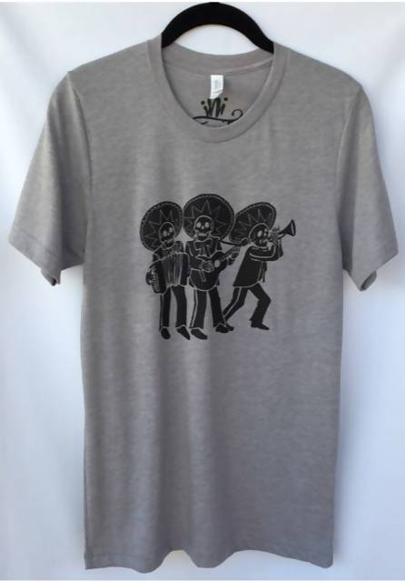 Los Tres Mariachis Day of the Dead Unisex T-shirt