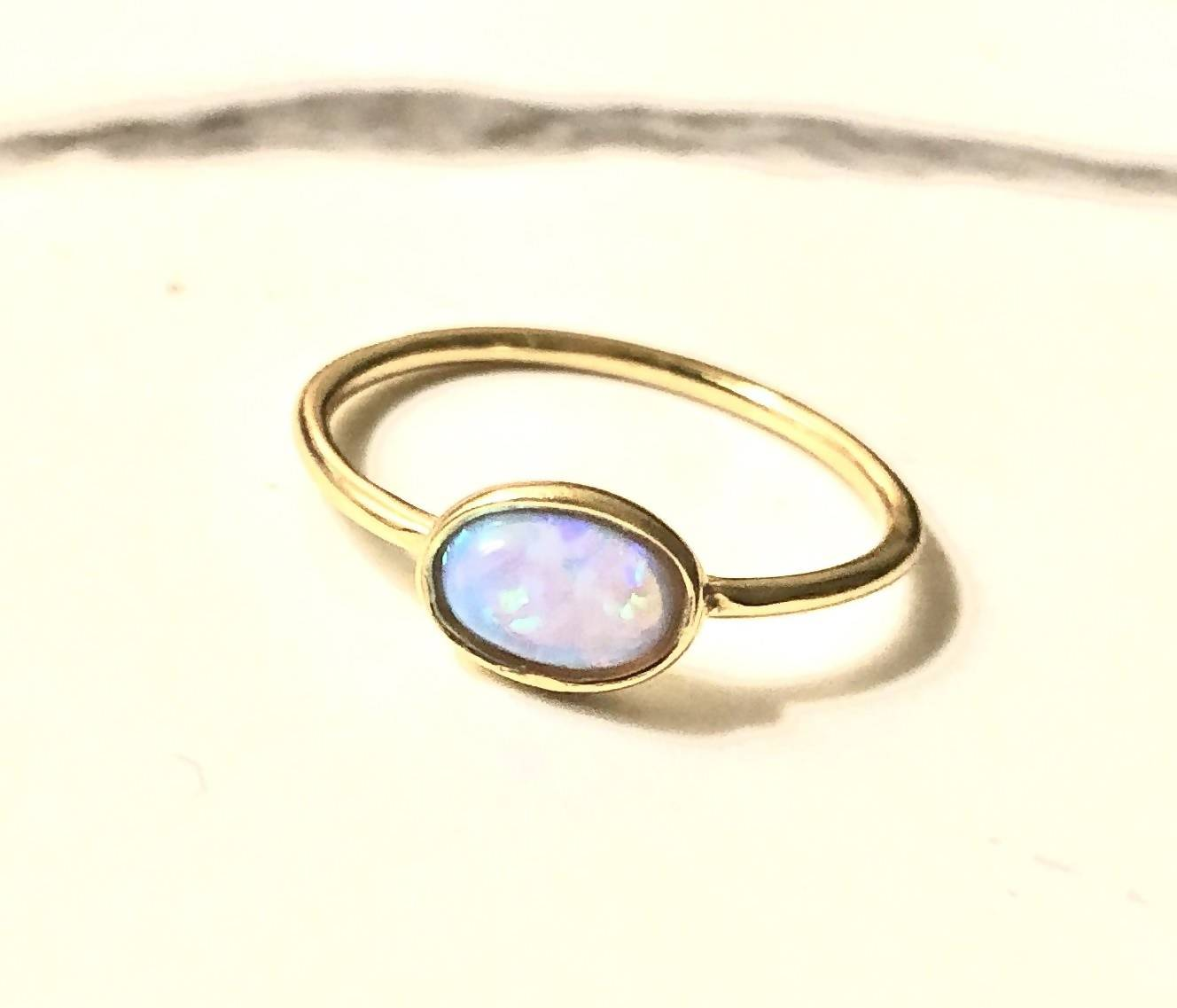 opal oval ring