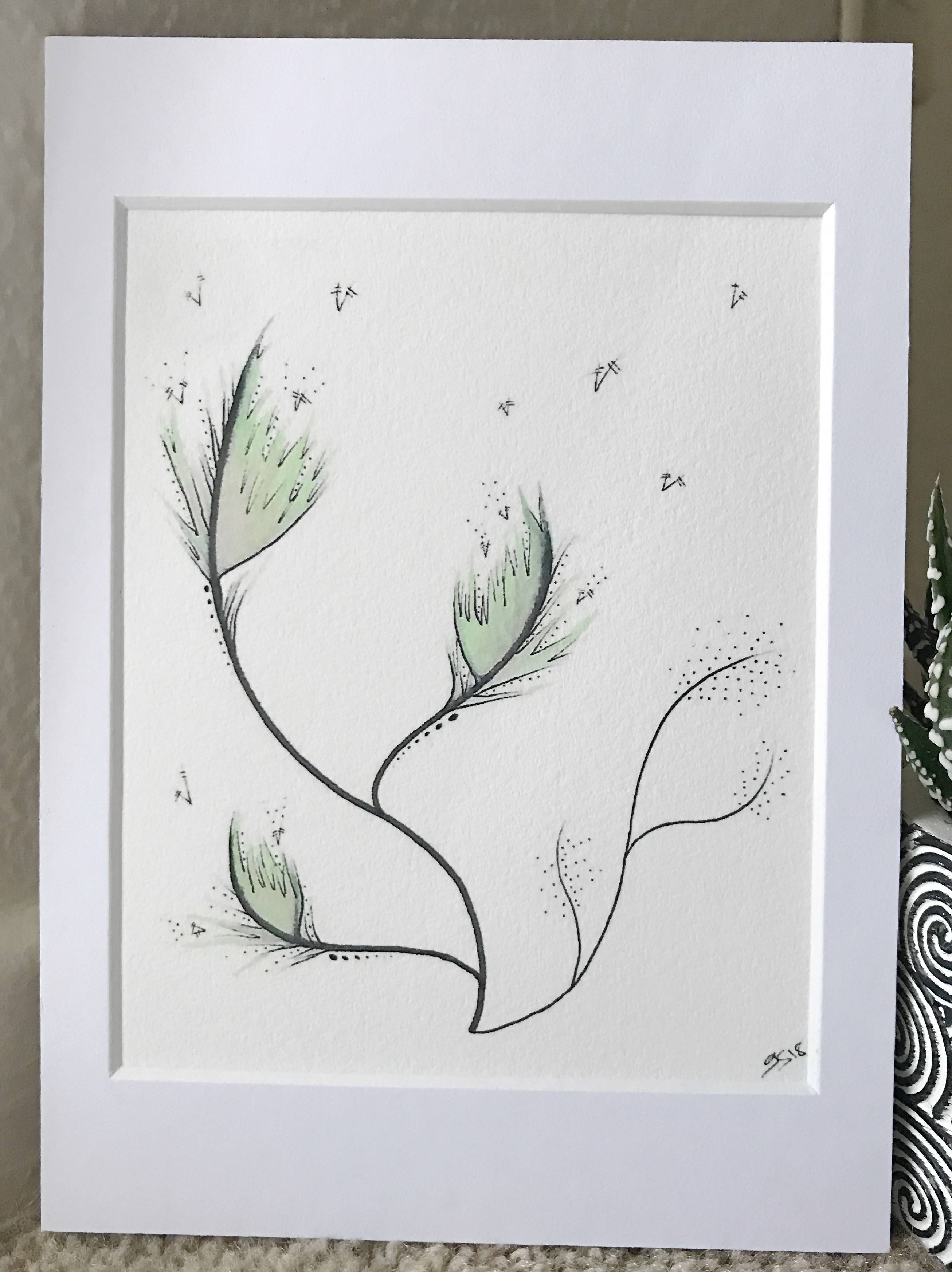 Gretshwoo Limited Edition 5x7 Art Print Plant 08
