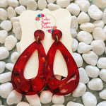 Fiery teardrop dangles
