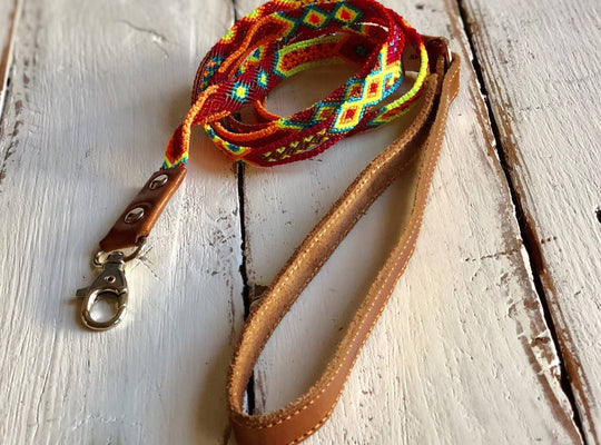 "Dog leash - 45"" long slim nylon"