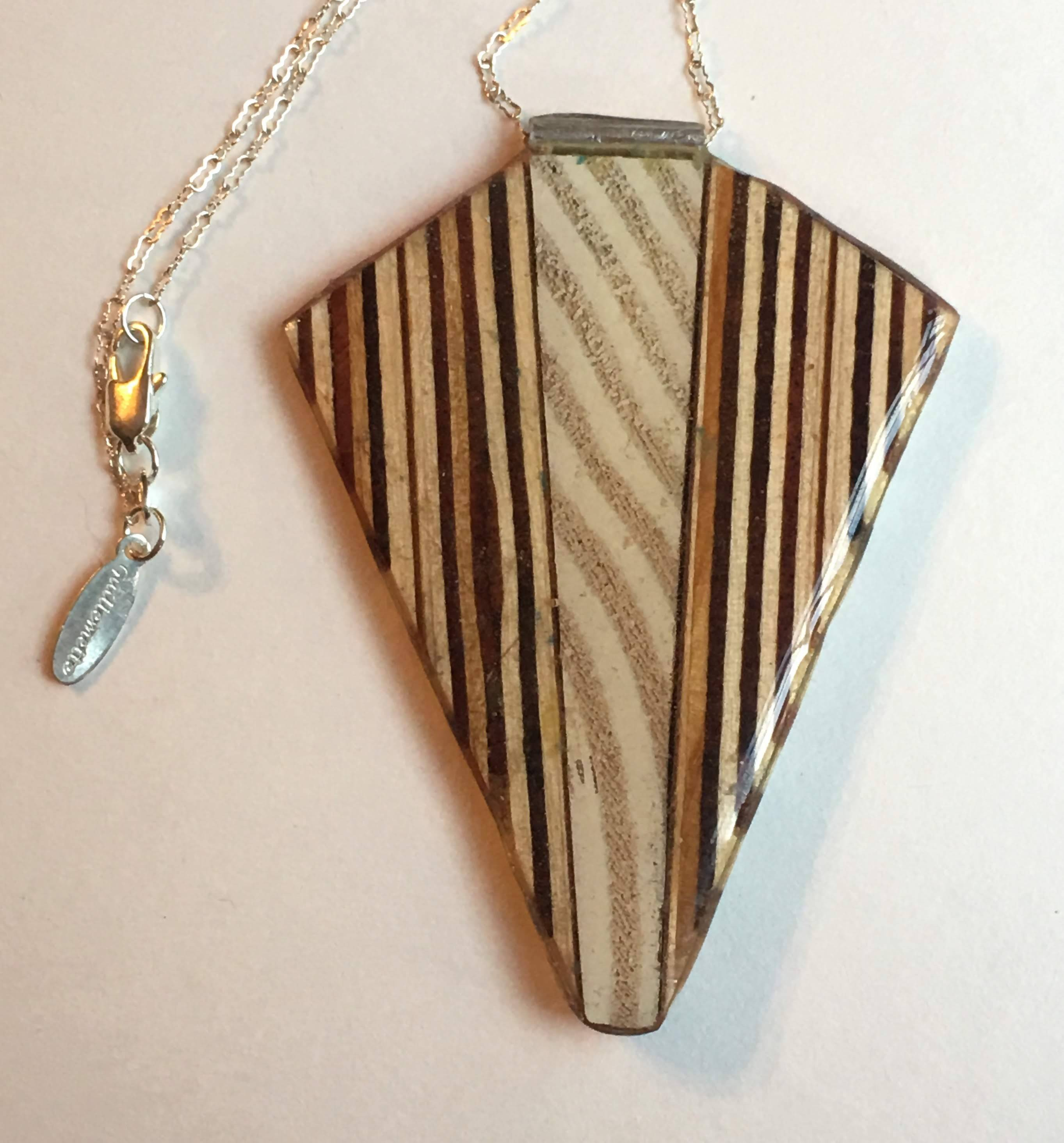 wood and plywood kite necklace