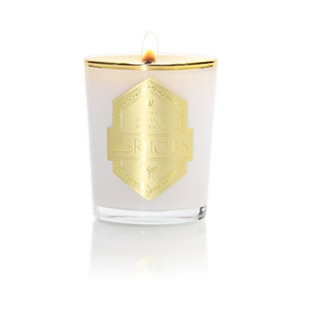 2.5 oz. Le tabac (Tobacco Maple) LesRuches Organic Beeswax Luxury Candle