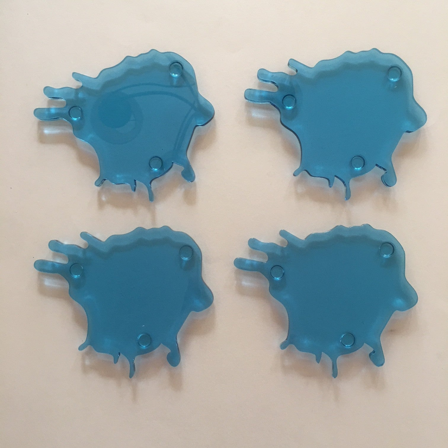 acrylic water spill coasters