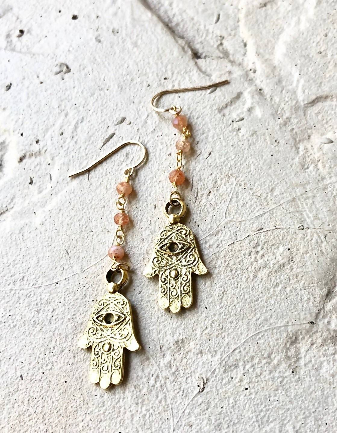 talk to the hand earrings
