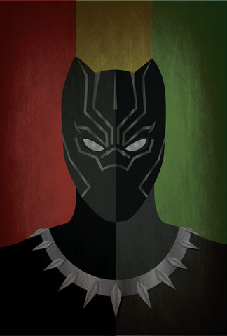 Black Panther Minimalist 13x19 Print Only