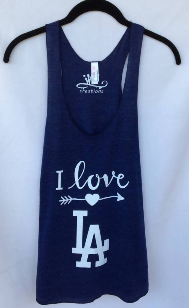 LA Women Tank Top. Love LA Tank Top. Dodgers Tank Top.
