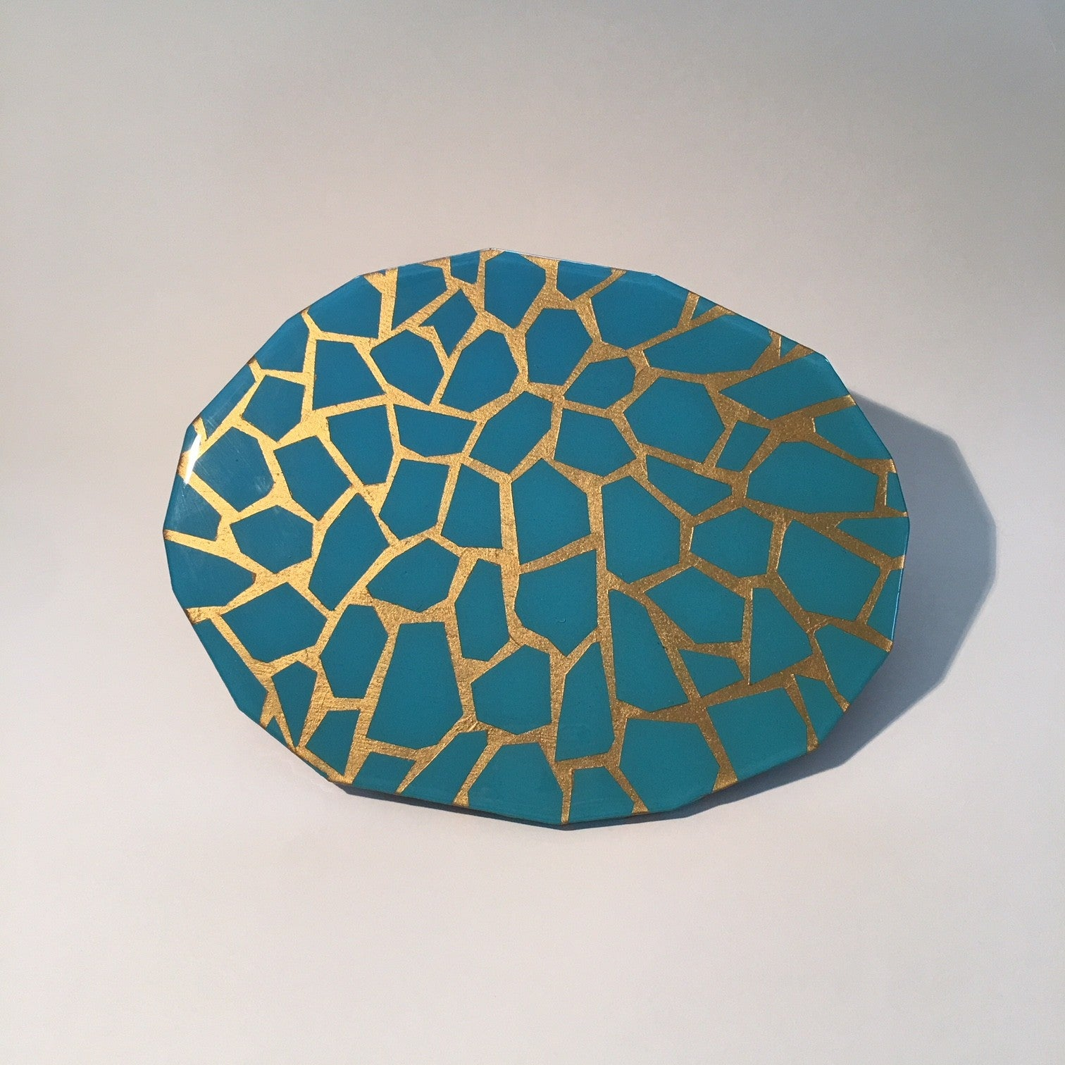 gradient blue with gold pattern