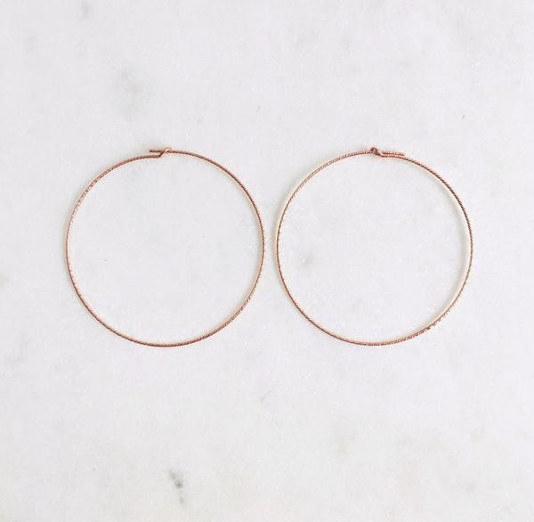 45mm Sparkle Wire Hoops