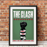 The Clash Live Print- 5x7 (Matted and framed)