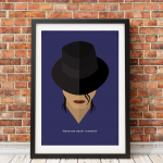 Michael Jackson Icon- 5x7 (Matted and framed)