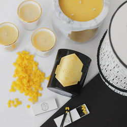 8 oz. Cassis (Black Currant) LesRuches Organic Beeswax Candles (NOIR)