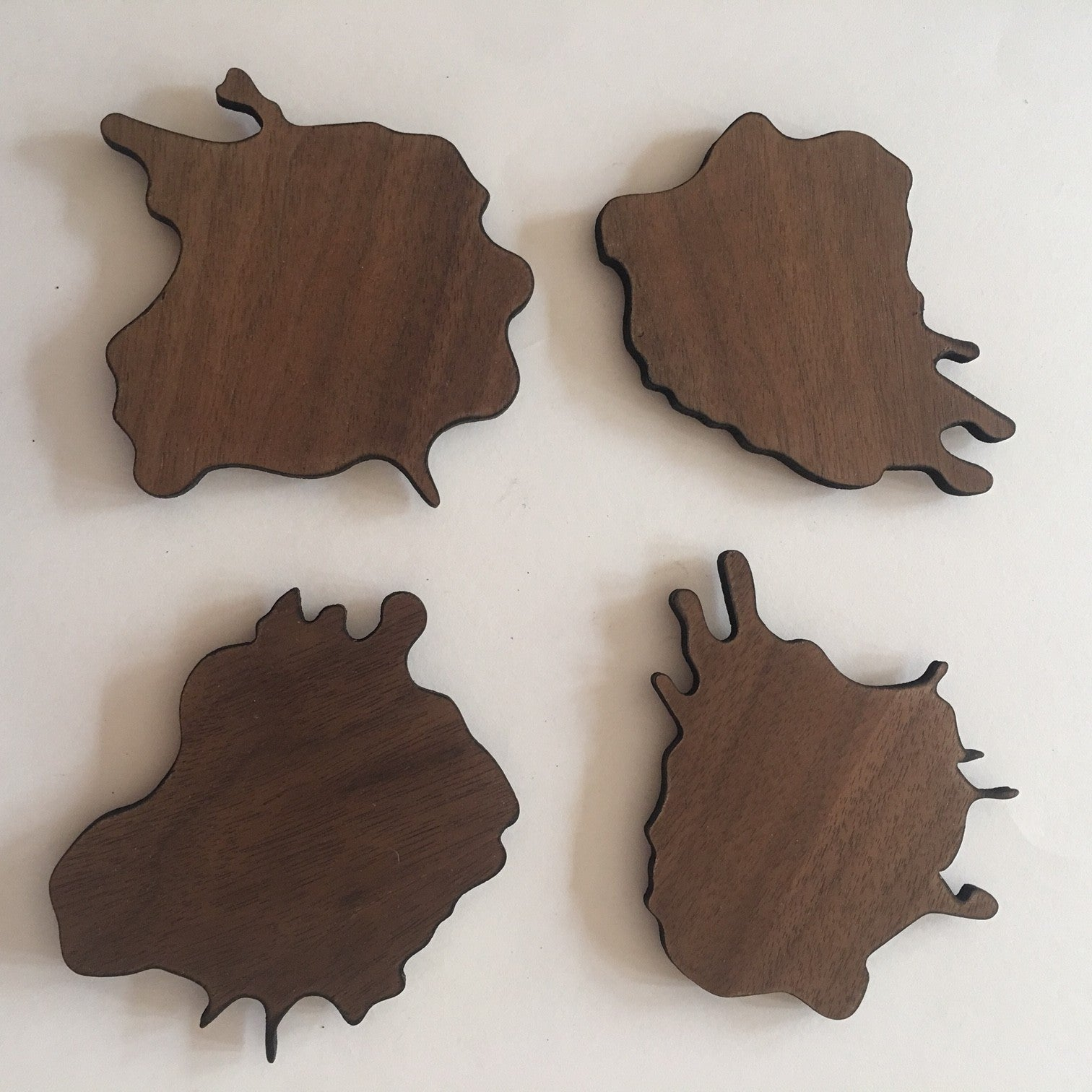wood water spill coaster set of 4