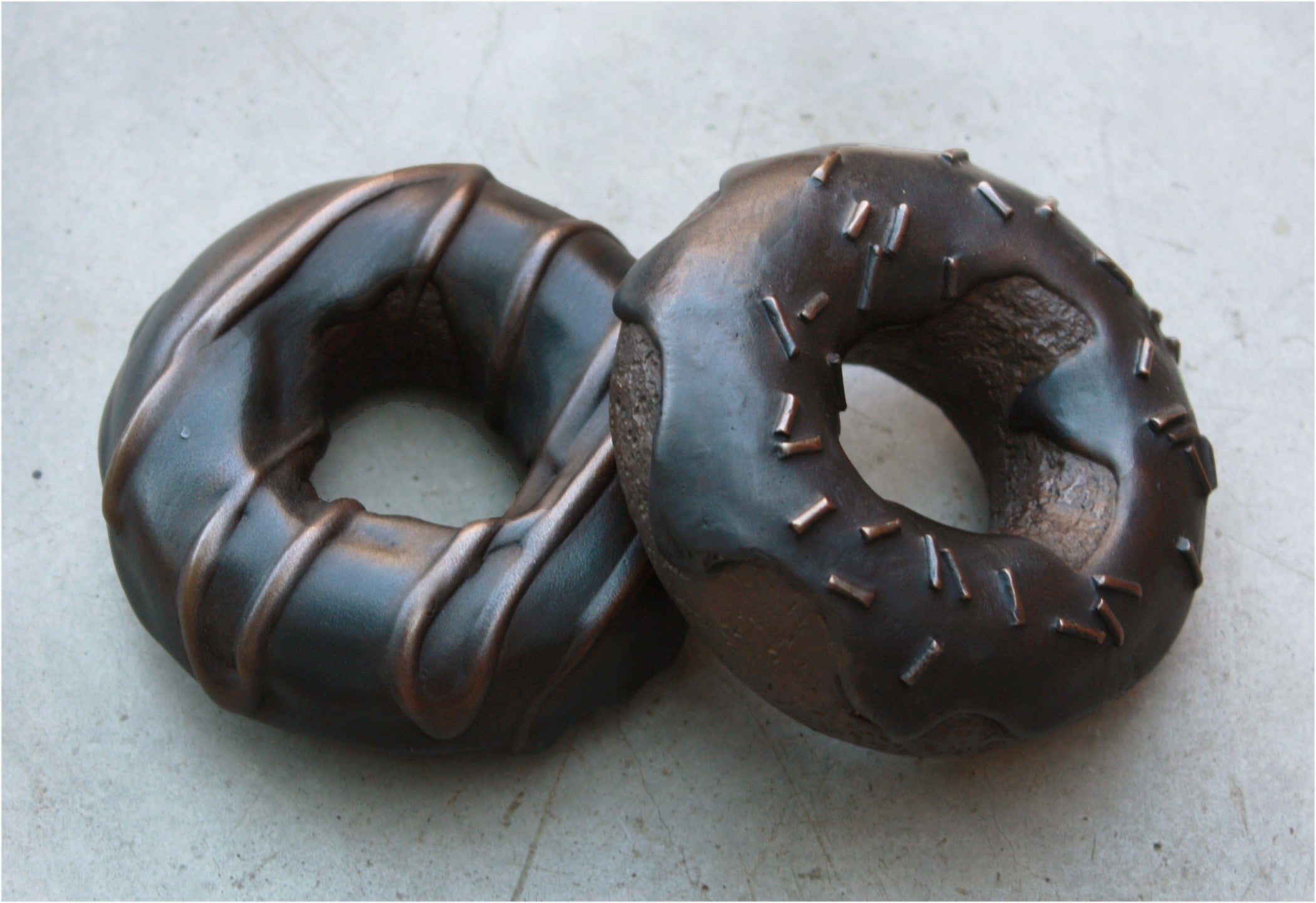 Bronze Donut Paperweights