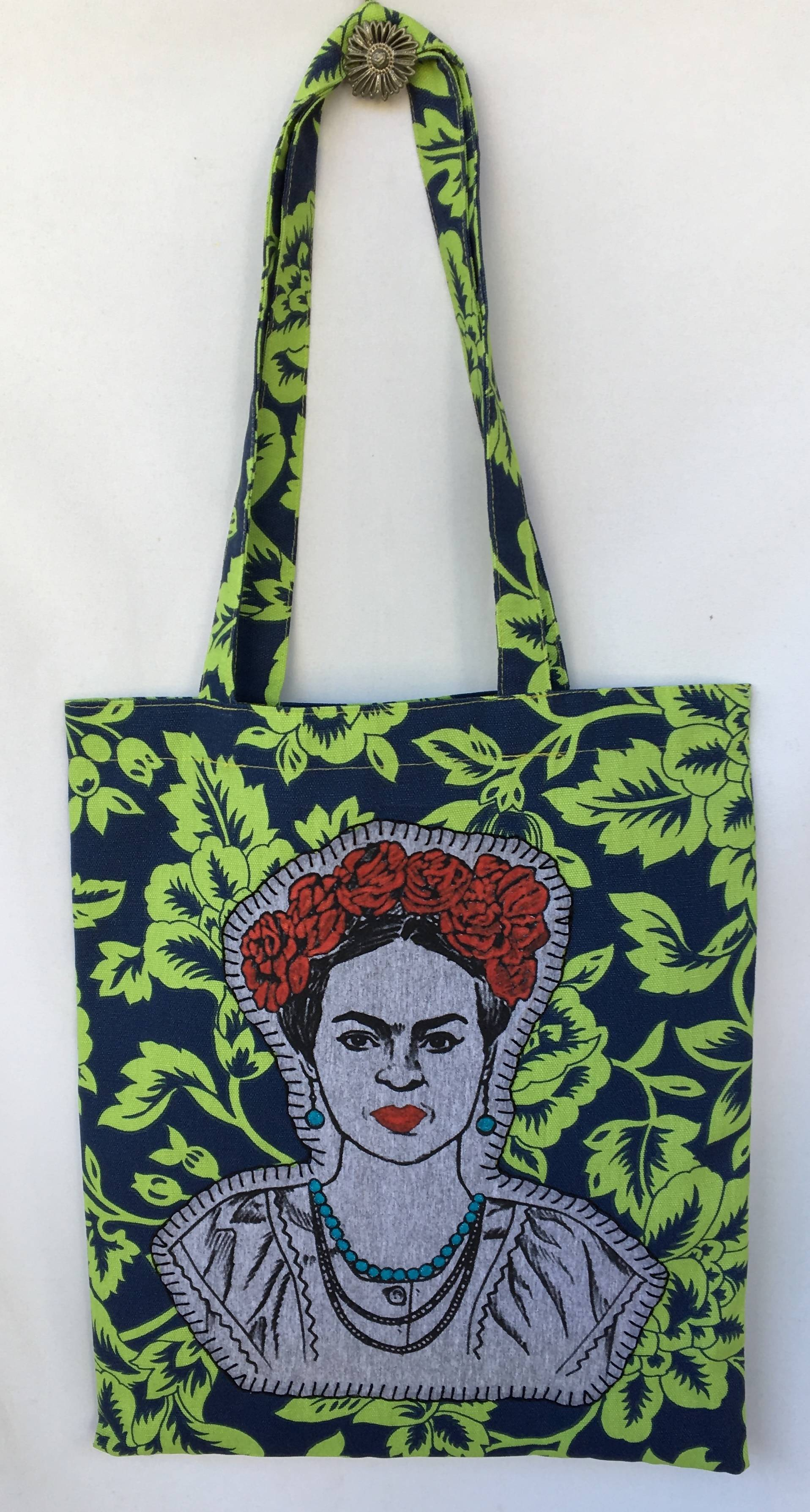 Frida Red Roses Tote Bag
