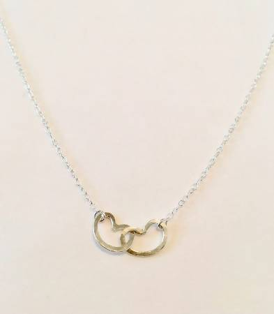Two Hearts Infinity Pendant Necklace