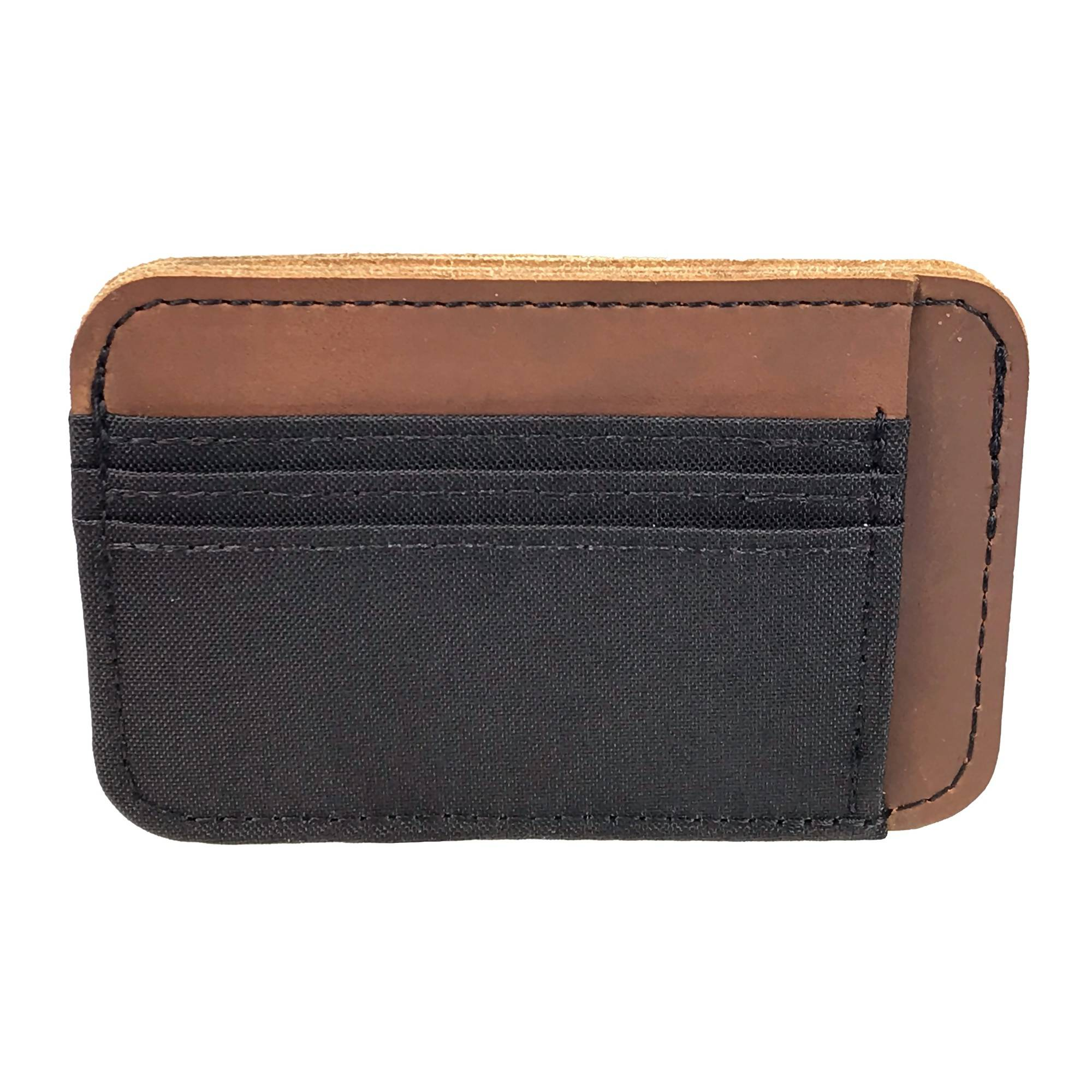 Leather & Polyester Deluxe Card Holder Wallet