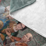 The Last Supper at Dunder Mifflin Fleece Throw Blanket