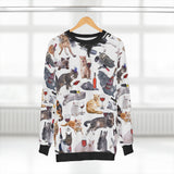 Cats with Wine Sweatshirt