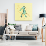 Bold and Brash Canvas Print - Funny Spongebob Wall Art Squidward Painting - Meme Dorm Decor