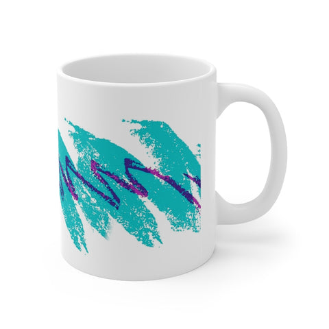90's Cup Design Mug - Retro Vintage Jazz Mug, Vapor Wave Aesthetic, Funny Nostalgic Kitchen Decor, 90's Meme Gift
