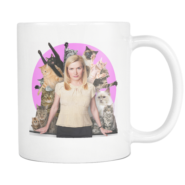 Angela with Cats Coffee Mug - Funny The Office TV Show Coffee Cup - The Office Mugs Meme Gifts