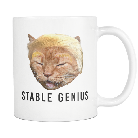 Stable Genius Trump Cat Coffee Mug - Meme Cuisine - Meme Drinkware