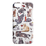Cats with Wine iPhone Case - Funny Cat iPhone 7 Case / iPhone 8 Case - Meme Cuisine