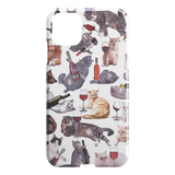Cats with Wine iPhone Case - Funny Cat iPhone 11 Pro Case - Meme Cuisine