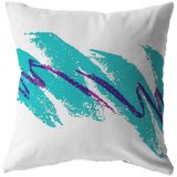 90s Cup Design Throw Pillow / Pillow Cover / Pillow Case - Retro Vintage Vaporwave Pillow - Funny Dorm Decor