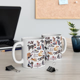 Cats with Wine Mug