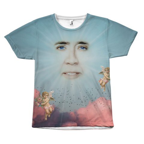 Nic Cage in the Clouds Shirt - Meme Cuisine - Meme All Over Print