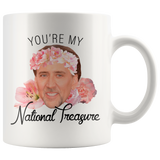 Nic Cage Youre My National Treasure Meme Coffee Mug