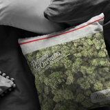 funny stoner gifts for him / her - Meme Cuisine - Bag of Weed Pillow Covers
