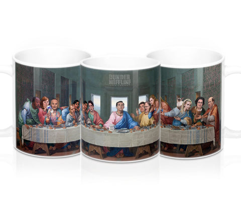 The Last Supper at Dunder Mifflin Mug - The Office TV Show Coffee Mug - Gifts for Office Lover, Michael Scott Meme