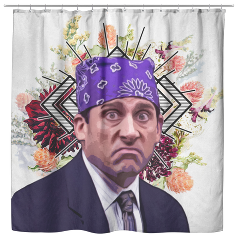 Michael Scott as Prison Mike Shower Curtain | Funny The Office TV Show Bath Curtain - Dorm Bathroom Decor Housewarming Gift