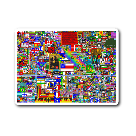 Reddit r/Place Sticker - Meme Cuisine - Meme Stickers